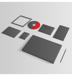 Blank Corporate Set isolated on grey mock up vector image