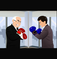 business concept two businessmen fighting vector image