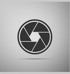 camera shutter icon isolated vector image