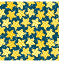 Children seamless pattern with stars vector