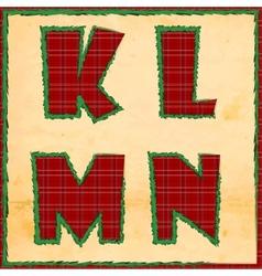 Christmas letters klmn vector image