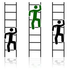 Climbing ladders vector