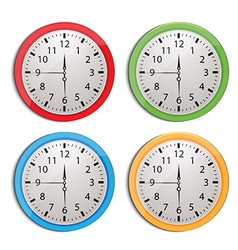 clock set isolated on white vector image