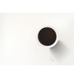 Coffee in White Cup Top vector image
