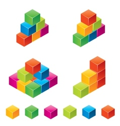 Colourful children blocks vector