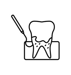 dental tartar clean icon vector image