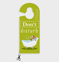 door hanger please do not disturb vector image