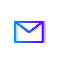 envelope blue purple gradient icon message symbol vector image