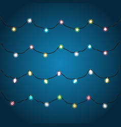 festive color garlands clipart vector image