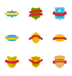 flag of truce icons set flat style vector image
