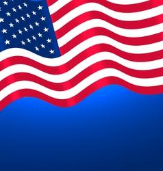Flags USA Waving vector image