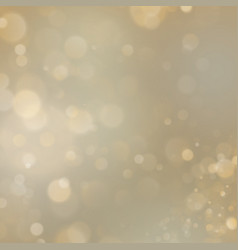 gold abstract background with bokeh defocused vector image