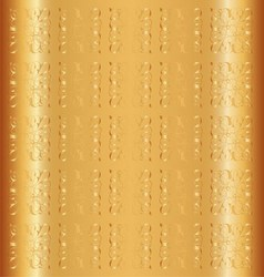 Gold Background Floral Luxury Ornamental Pa vector image