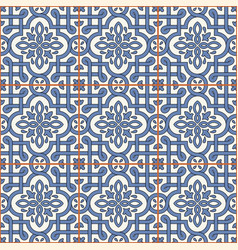 gorgeous seamless pattern from tiles and border vector image