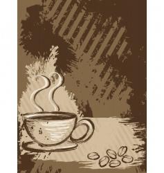 Grunge coffee background vertical vector