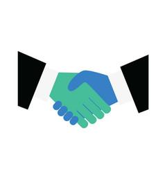handshake icon symbolizing an agreement signing vector image