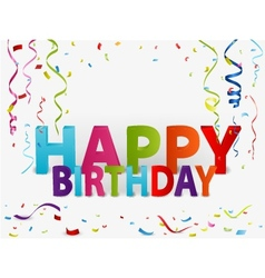 Happy birthday greeting background vector