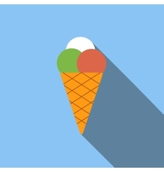Ice cream flat icon vector image