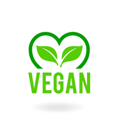 icon for vegan food bio ecology organic logos vector image