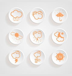 icons weather design vector image