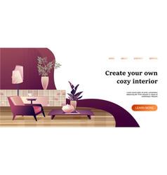 Interior apartment concept banner vector