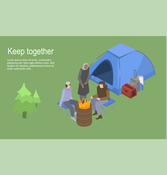 keep together homeless family concept background vector image