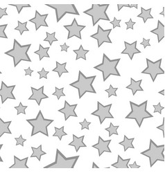 Monochrome starry seamless pattern vector