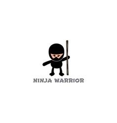 Ninja boy cartoon vector