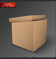 package box isolated on transparent background vector image