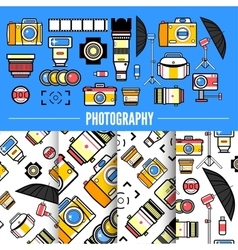 Photograpy concept design with set of photo vector