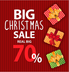 Poster big christmas sale and discount vector