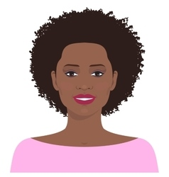 Pretty african american woman vector image