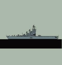 projekt 1123 soviet aircraft carrier vector image