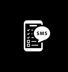 Reminders by sms and medical services icon vector