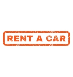 Rent a Car Rubber Stamp vector image