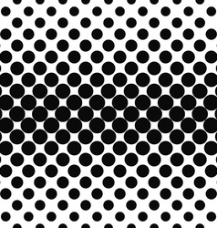 Repeating black white dot pattern vector image