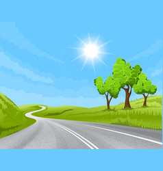 road going into the distance vector image