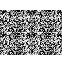 seamless black ornament on white background vector image