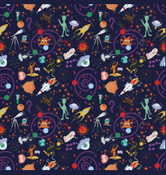 Seamless pattern 2 of childrens drawings in flat vector