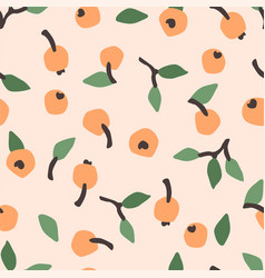 seamless pattern with abstract berries vector image