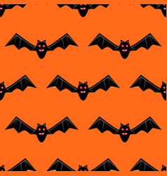 seamless pattern with bats bats isolated vector image