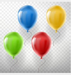 Set of flying multicolored helium balloons vector