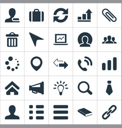 Set of simple team icons vector