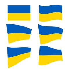 Set of ukrainian flags vector