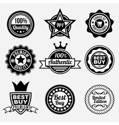 set premium quality labels vector image