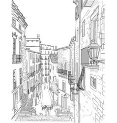 sketch a city street vector image