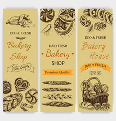 Sketch - bakery loaf vector
