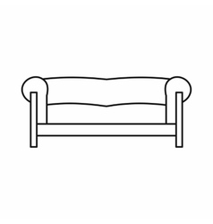 Sofa icon in outline style vector