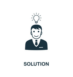 solution icon symbol creative sign from vector image