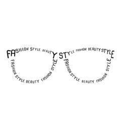Sunglasses from words vector image